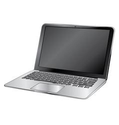 black laptop vector image