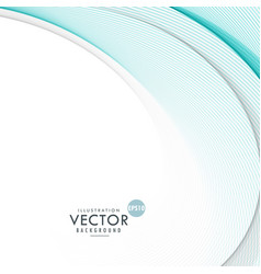 Blue smooth wave background vector