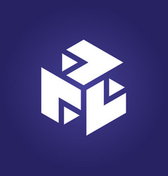 box cube 3d logo vector image