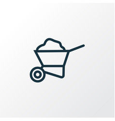 Carry cart outline symbol premium quality vector