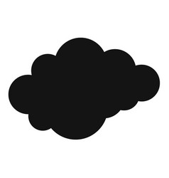 Cloud with downfall icon simple style vector