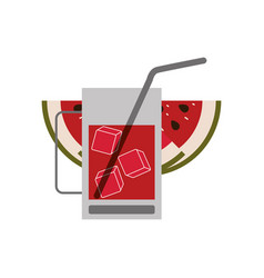 color silhouette of watermelon slice and vector image vector image