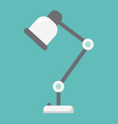 Desk lamp flat icon table lamp and appliance vector