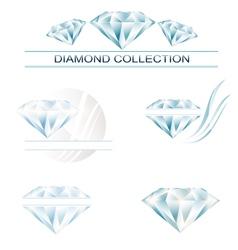 Diamond collection vector image