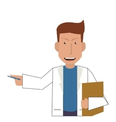 doctor or medic with clipboard icon vector image
