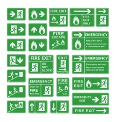 Exit sign set vector