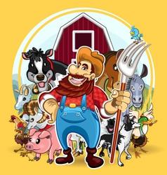 Farm life vector