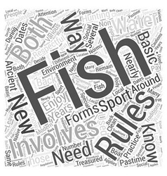 fishing for beginners Word Cloud Concept vector image