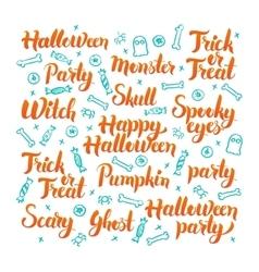 Halloween lettering set vector