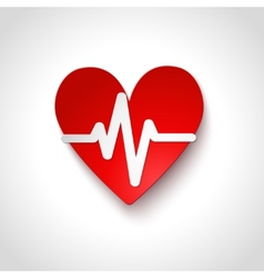Heart rate emblem icon isolated vector