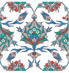 iznik ceramic tiles floral pattern vector image vector image