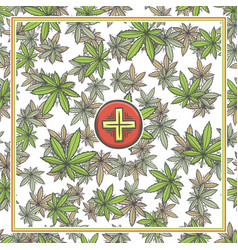 Marijuana medical banner three vector
