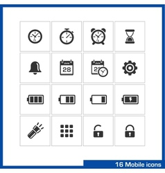 Mobile icon set vector image
