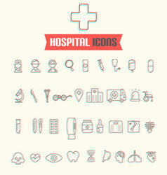 modern medical icon set vector image vector image