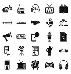 Note icons set simple style vector