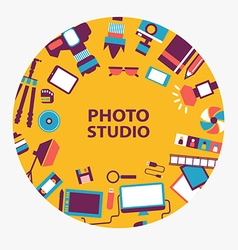 Photo studio emblem vector image