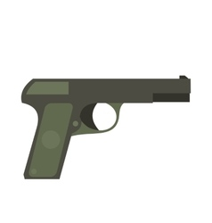 Pistol flat icon vector image vector image