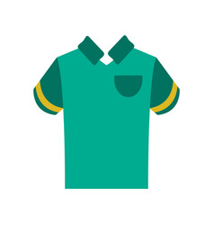 polo shirt with stripe on sleeves icon image vector image