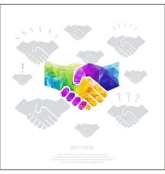 polygon-handshake- vector image