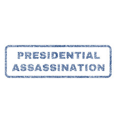 presidential assassination textile stamp vector image vector image