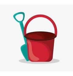 Sand bucket of summer and vacation design vector