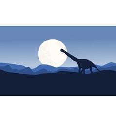 Scenery argentinosaurus on desert vector image vector image