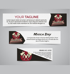 Set of american football banner template with vector