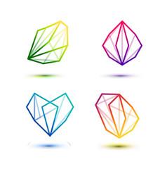 Set of minimal geometric multicolor striped vector