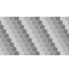 Silver hexagonal geometric background vector