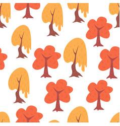 simple seamless tree pattern vector image