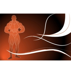 strong man vector image
