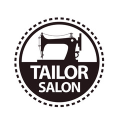 Tailor salon dressmaker atelier or shop vector