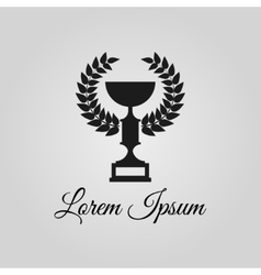 Trophy cup logo vector image vector image