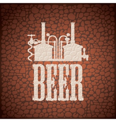 wall beer vector image