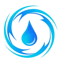 Water-drop vector image vector image