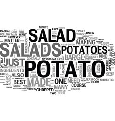 What you need to know about potato salads text vector