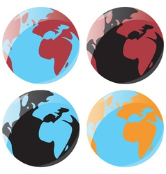 Smooth globe icons vector