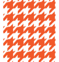 hand drawn ikat houndstooth seamless pattern vector image