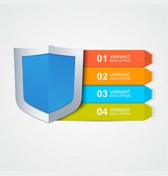 Infographics shield vector