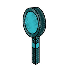 Magnifying glass isometric icon vector