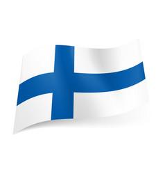 National flag of finland blue cross on white vector