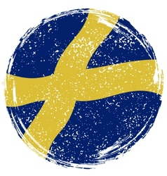 Swedish grunge flag Grunge effect can be cleaned vector image
