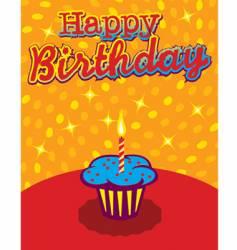 birthday cupcake background vector image
