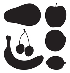Fruit silhouette2 vector