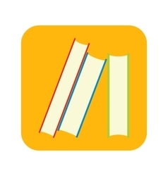 Stack of books flat icon vector