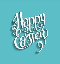 Easter vintage lettering background vector