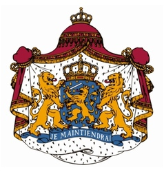 Coat of arms of netherlands vector