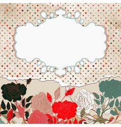Vintage floral rose card vector