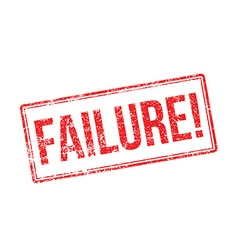 Failure red rubber stamp on white vector
