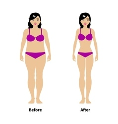 a concept of weight loss vector image vector image